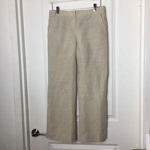 J Crew | City Fit 100% Linen wide leg Pants